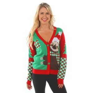 Women's Cuddly Sloth Ugly Christmas Sweater